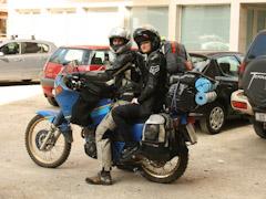 Ivana i Lazić na motoru